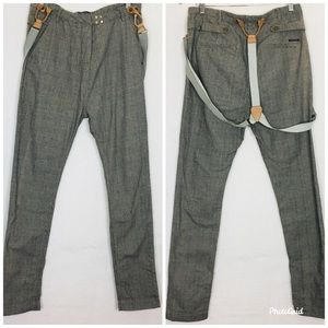 MAson Scotch Trouser Pants With Suspenders Size 1